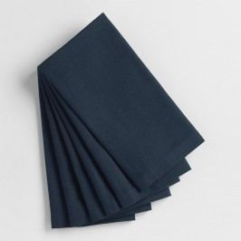 Dark Indigo Blue Buffet Napkins Set of 6 by World Market