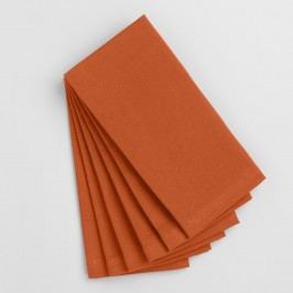 Flame Orange Buffet Napkins Set of 6 - Cotton by World Market
