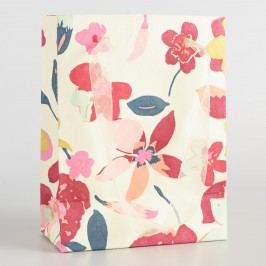 Small Cream Paris Bouquet Handmade Gift Bags Set of 2 by World Market