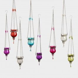 Glass Dahlia Hanging Tealight Lanterns Set of 8 by World Market