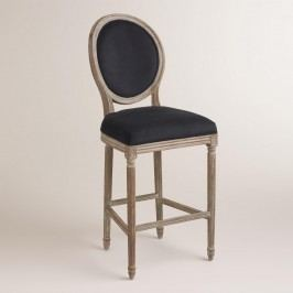Black Paige Barstool - Fabric by World Market