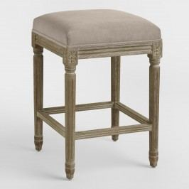 Cocoa Paige Backless Counter Stool: Brown - Fabric by World Market