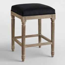 Black Paige Backless Counter Stool - Fabric by World Market