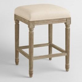 Natural Linen Paige Backless Counter Stool by World Market