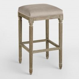 Cocoa Paige Backless Barstool: Brown - Fabric by World Market