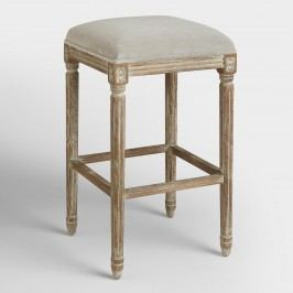 Dove Paige Backless Barstool: Gray by World Market