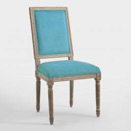Peacock Square-Back Paige Dining Chairs, Set of 2: Blue - Fabric by World Market