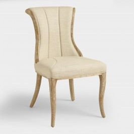 Natural Channel Back Dining Chairs Set of 2 by World Market