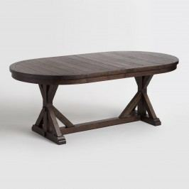Rustic Brown Oval Wood Brooklynn Extension Dining Table by World Market