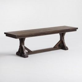 Rustic Brown Wood Brooklynn Dining Bench by World Market
