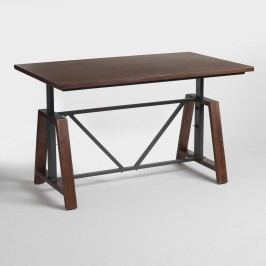 Wood Braylen Adjustable Height Work Table: Brown by World Market
