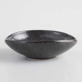 Black Zen Shallow Salad Bowls Set of 2 by World Market