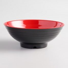 Black and Red Melamine Bowls Set of 4 by World Market