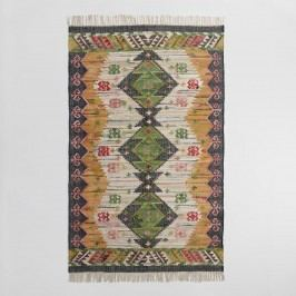 5'x8' Boho Woven Cotton Kilim Alina Area Rug: Multi - 5' x 8' by World Market