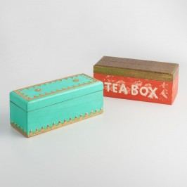 Antique Painted Finish Wood Tea Boxes Set of 2 by World Market