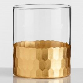 Gold Faceted DOF Glasses Set of 4 by World Market