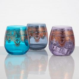 Moroccan Stemless Wine Glasses Set of 3 by World Market