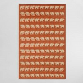 Terracotta Elephants Terrace Indoor Outdoor Patio Area Rug - 7.10Ftx9.10Ft by World Market 7.10Ftx9.10Ft
