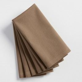 Taupe Buffet Napkins Set of 6: Brown - Cotton by World Market