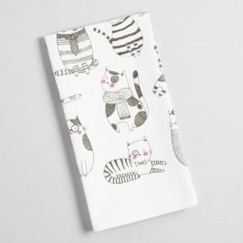 French Cats Kitchen Towel: White - Cotton by World Market