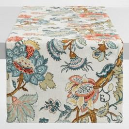 Blue Palampore Anika Table Runner: Blue/Multi - Cotton by World Market