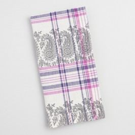 Purple Plaid Paisley Amrita Napkins Set of 4 - Cotton by World Market
