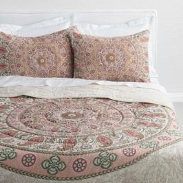 Blush Medallion Mariana Reversible Quilt: Pink - Cotton by World Market