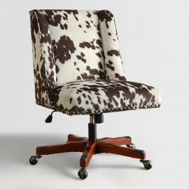 Brown Udder Madness Heathman Upholstered Office Chair - Fabric by World Market