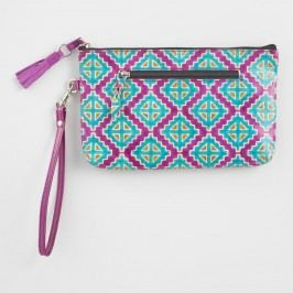 Pink Geometric Leather Clutch by World Market