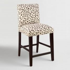 Snow Leopard Kerri Upholstered Counter Stool - Fabric by World Market