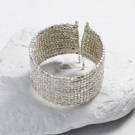 Silver Metal Beaded Cuff Bracelet by World Market