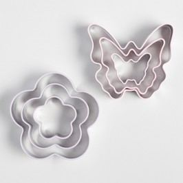 Butterfly and Flower 3 Pack Cookie Cutters Set of 2 by World Market
