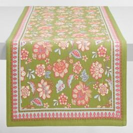 Floral Audrey Table Runner: Green - Cotton by World Market