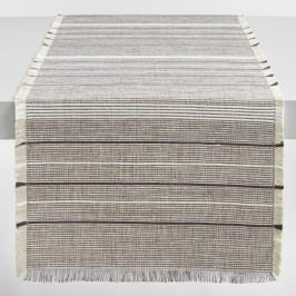 White and Brown Woven Jute Table Runner - Cotton  by World Market