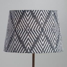 Indigo Blue Tribal Embroidered Cotton Accent Lamp Shade by World Market