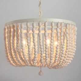 Antique Whitewash Wood Bead Chandelier by World Market