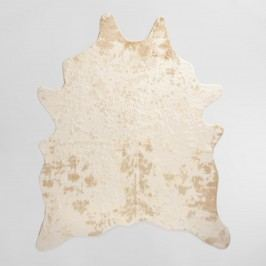 Gold Printed Faux Cowhide Area Rug - Polyester - 5Ftx6.6Ft by World Market 5Ftx6.6Ft