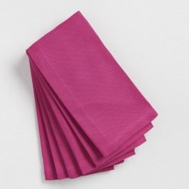 Magenta Buffet Napkins Set of 6: Pink - Cotton by World Market