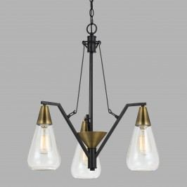 Antique Brass and Glass 3 Light Riley Chandelier by World Market