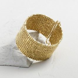 Gold Metal Beaded Cuff Bracelet by World Market