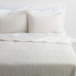 Natural Linen Simone Reversible Quilt: White/Natural - Cotton - Full / Queen Quilt by World Market Queen