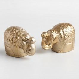 Gold Metal Elephant Salt and Pepper Shaker Set by World Market