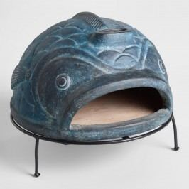 Blue Fish Terracotta Pizza Oven by World Market