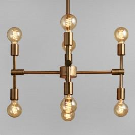 Antique Gold Modular 8 Bulb Chandelier - Metal by World Market