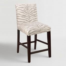Tropo Cloud Zebra Stripe Kerri Upholstered Counter Stool - Fabric by World Market