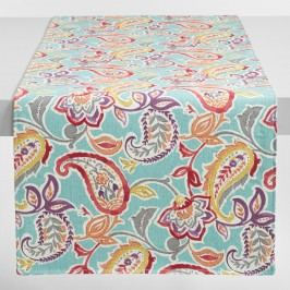 Paisley Valentino Table Runner: Blue - Cotton by World Market