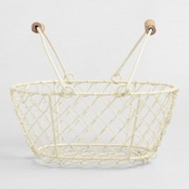 Cream Mini Wire Baskets Set of 2 by World Market