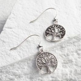 Silver Tree of Life Drop Earrings by World Market
