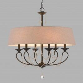 Oil Rubbed Bronze and Burlap 6 Light Taylor Chandelier by World Market