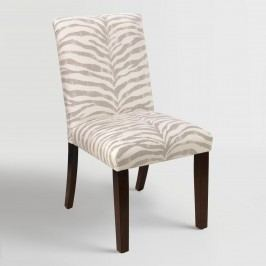 Tropo Cloud Zebra Stripe Kerri Upholstered Dining Chair - Fabric by World Market